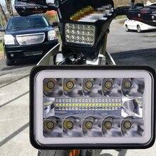 "1Pcs 4X6 ""Led Licht Sealed Beam Koplamp Drl Turn Singal 4X6 Inch Led Motorfiets koplamp Voor Suzuki Motor"