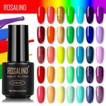 Rosalind gel polonês arco-íris cor gel unha polonês tudo para manicure semi permanente embeber fora design da arte do prego primer para unhas