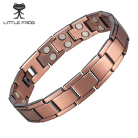 LITTLE FROG Vintage Copper Magnetic Bracelet for Men Women Magnet Healthy Healing Therapy Energy Bangles Fashion Jewelry