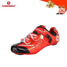 SIDEBIKE cycling shoes road for men women self-locking breathable bicycle riding sneakers ultra-light Athletic Racing bike shoes