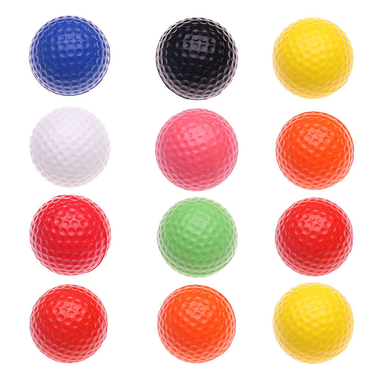 New 12 Pcs Golf Balls Outdoor Sports White PU Foam Golf Ball Indoor Outdoor Practice Training Aids