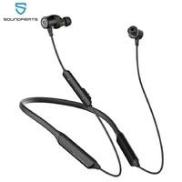 SoundPEATS-auriculares inalámbricos Force Pro con Bluetooth, dispositivo deportivo magnético con micrófono incorporado, estéreo, Supergraves, CVC, 22H