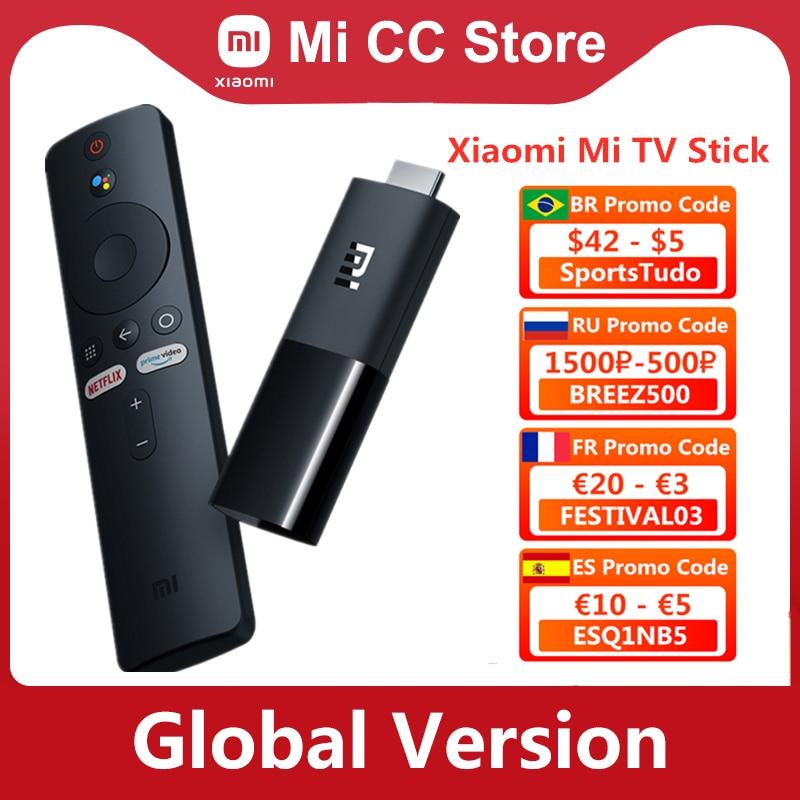 Global Version Xiaomi Mi TV Stick Android TV 9.0 Smart 2K HDR 1GB RAM 8GB ROM Bluetooth 4.2 Mini TV Dongle Wifi Google Assistant|Smart Remote Control| - AliExpress