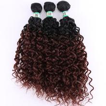 FSRHAIR Black to brown water wave Hair Weave 210 Gram/lot ombre Synthetic Hair bundles