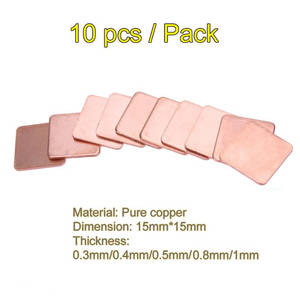 Shim Heatsink Chipset Thermal-Pads Laptop Cooling Copper GPU 10pcs for IC CPU 15mm--15mm