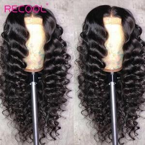Image 4 - باروكات شعر بشري أمامية من الدانتيل من Recool باروكة واسعة مموجة 180 كثافة 250 باروكة أمامية من الدانتيل 360 باروكة شعر طبيعي مموج مسبقًا