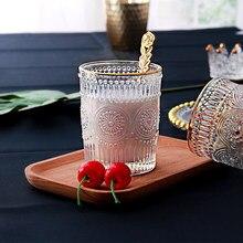 Europäischen-Stil Retro Glas Wärme-Beständig Wasser Tasse Kaffee Tasse Geprägte Phnom Penh Sonne Blume Frühstück Tasse Dekoration wein Glas