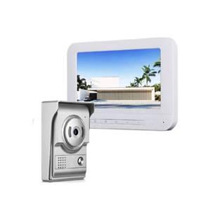 Image 2 - 7 بوصة السلكية جرس باب يتضمن شاشة عرض فيديو إنترفون كاميرا غير نافذ للمطر البصرية نظام اتصال داخلي فيديو باب الهاتف شحن مجاني
