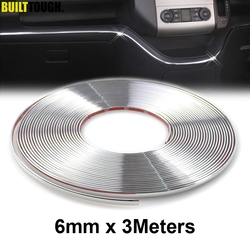 3M Car Accessories Chrome Strip Styling Decoration Moulding Trim Cover Strips Auto DIY Body Bumper Protector Sticker Guard 6mm