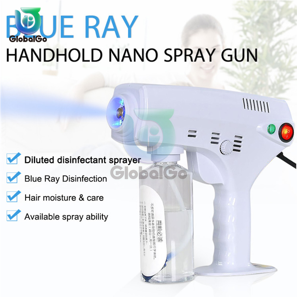 1200W 260ML Blue Light Disinfection Steam Spray Gun  Hair Ultra Fine Mist Water Trigger Sprayer Machine 110V-240V