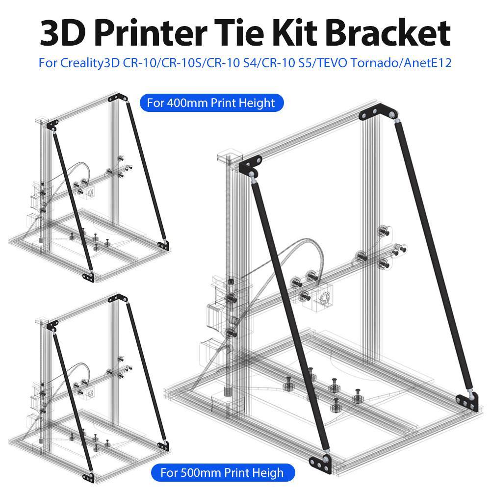 Kit de soporte para impresora 3D, alta calidad, para Creality3D CR-10/10 S/10 S4 TEVO Tornado AnetE12, Kits de impresión de escritorio DIY