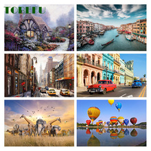 TOBEFU 500 Pieces Jigsaw Puzzle Assembling Picture Landscape Decompression Puzzles Toy for Adult Children Kids Educational Gift