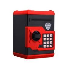 Safety Box Piggy Bank Money Safe Simulation Passward ATM Deposit Machine Automatic Roll Money Saving Bank