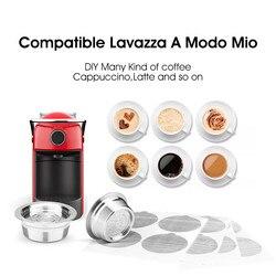 Stal nierdzewna do Lavaza a modo mio kapsuła do kawy wielokrotnego użytku Lavazza A Modo Mio Jolie/Tiny z 100 sztuk folii jednorazowe uszczelnienie w Filtry do kawy od Dom i ogród na