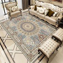 Tapis imprimé de Style persan, grande taille, pour maison, salon moderne, épais, décor artistique sur mesure