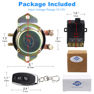 Image 3 - Auto Batterie Isolator Schalter Auto Fahrzeug Elektromagnetische Rast Relais 100A 12v Fernbedienung Batterie Trennen Cut Off 10 15v