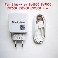 Für Blackview BV9000 BV9600 BV9700 BV9800 Pro USB Power Adapter Ladegerät Eu-stecker Travel Power Supply + Typ-C usb Kabel Daten Linie