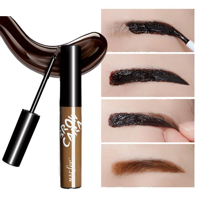 Makeup Eyebrow Enhancers Liquid Gel Long Lasting Waterproof Easy to Wear Tear Peel-off Brow Tattoo Tint Eyes Brows Natural 3