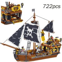 Black Pearl Ship Compatible With Legoinglys Pirate Ships 4184 4195 Caribbean Model Building Blocks Boys Birthday Gifts Kid Toys