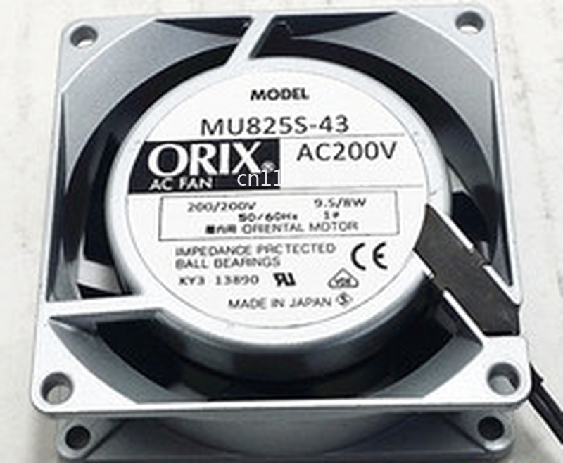 Free Shipping For ORIX MU825S-43 Server Cooler Fan AC 200V 0.08A 80x80x25mm 2-wire