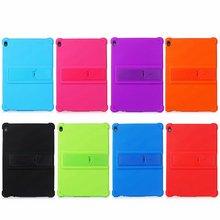 Capa de silicone para lenovo tab e10 10.1, proteção seguro e macia para tablet, TB X104F tb x104f TB X104L concha para crianças + caneta