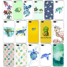370FG Green Blue Turtle Animal Soft TPU Silicone Cover Case For