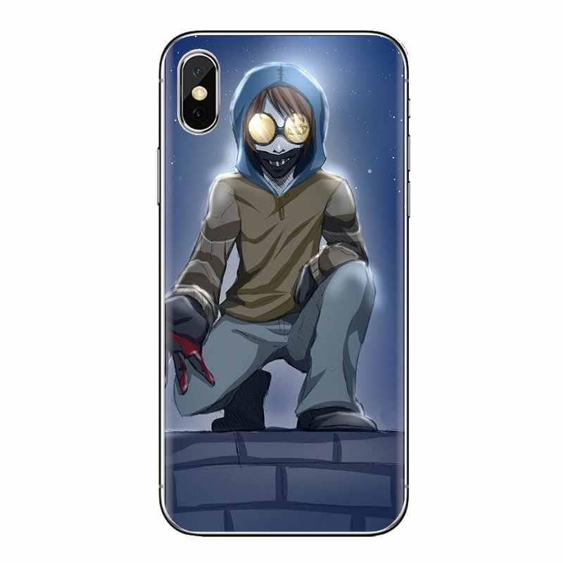 Creepypasta Ticci Toby x leitor Macio Capa Para iPhone 5 XS Max XR X 4 4S 5S 5C SE 6 7 8 6S Plus Samsung Galaxy J1 J3 J5 J7 A3 A5