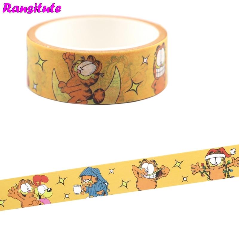 Ransitute Cute Cat Colored Washi Paper Tape Handmade DIY Decorative Paper Tape Color Tape Album Decoration Tape R706