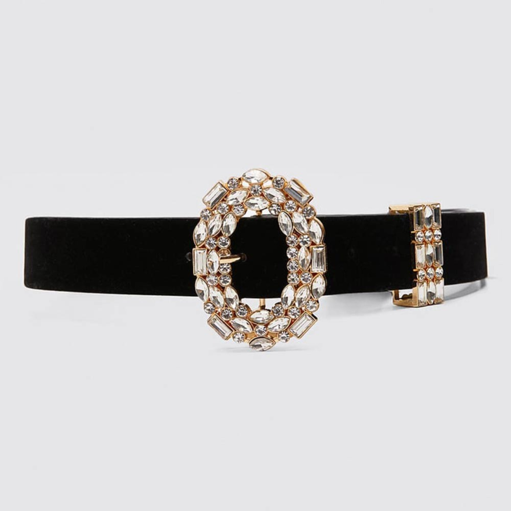 H94f77313d4c547fcbcce29437117918fO - Girlgo Newest Vintage Velvet Buckle Belt for Women Punk Metal Gold Color Belly Chain Accessories Jewelry Party Gifts Bijoux