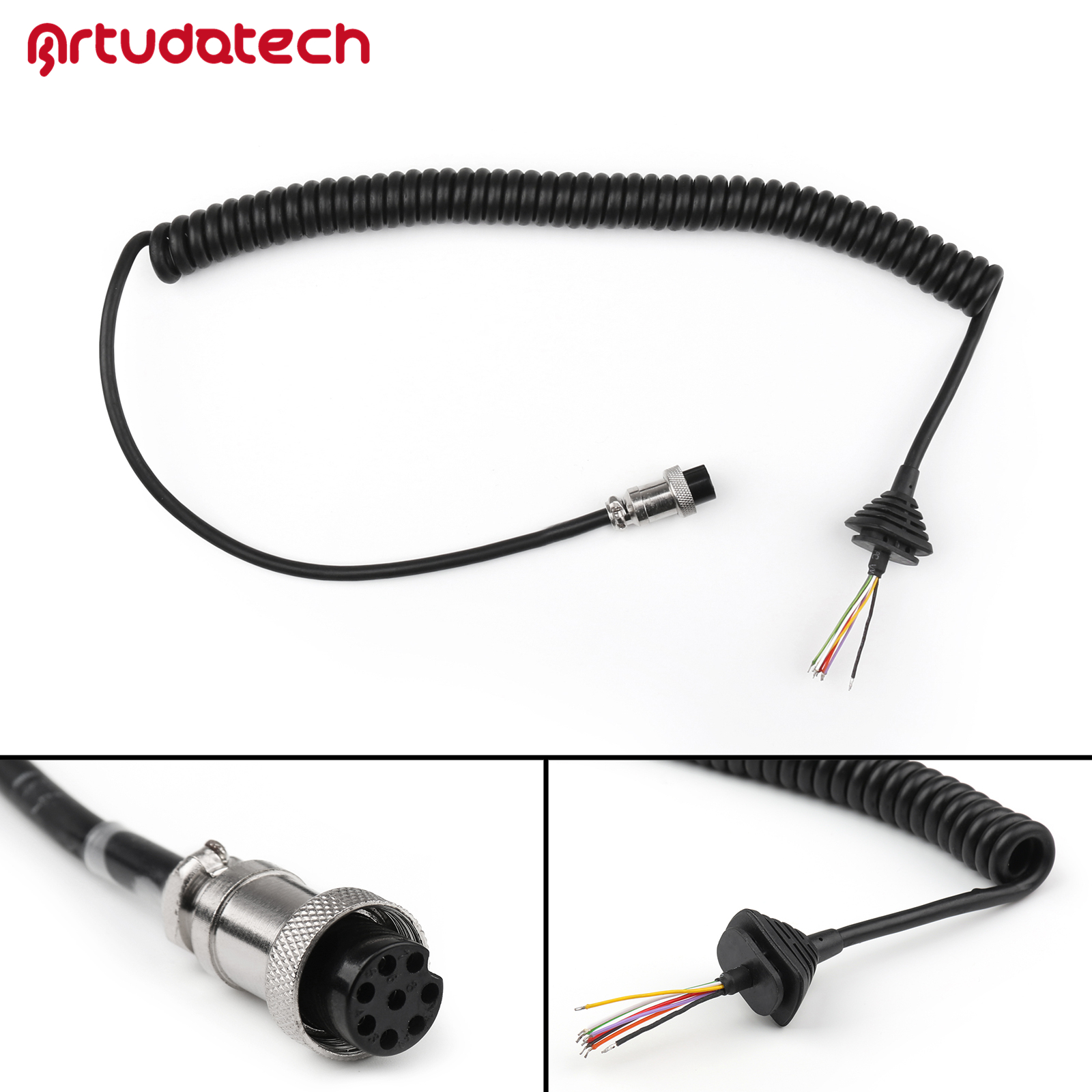 Artudatech EMS-53 EMS-57 Mic Cable Line For ALICON DR430 DR135 DR620 DR635 DR435 Handheld Microphone