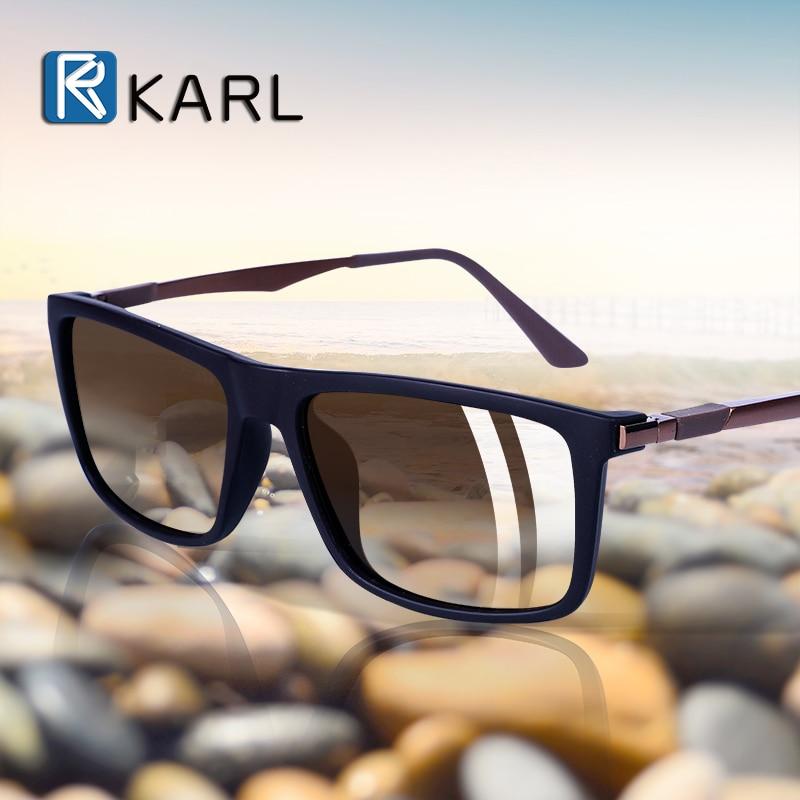 Classic Men Polarized Driving Sunglasses Male Vintage HD Lens Square Aluminum Magnesium Sun Glasses Masculino Eyewear UV400