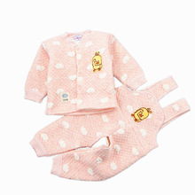 купить Autumn Winter newborn clothes Baby Sets Kids Clothing Tops Cotton Bib Pants for boys girls toddler Children Climbing suit outfit дешево