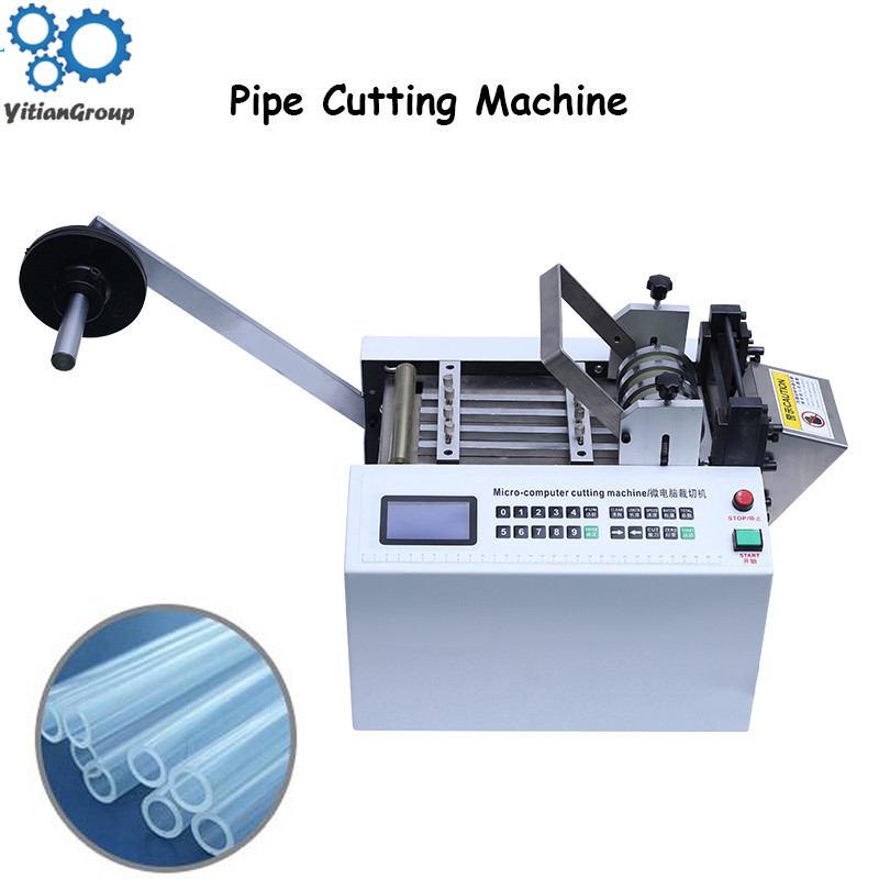DG-100 Automatic Computer Pipe Cutting Machine Heat Shrinkable Tube Teflon Silica Gel Wire Rope PVC Casing Cutting Wire Cutter