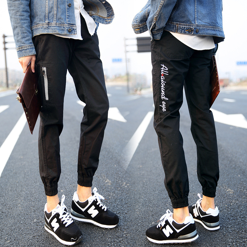 2017 New Style Capri Pants Closing Foot Men's Casual Pants Loose Korean-style Harem Pants Young MEN'S Beam Leg Skinny Pants