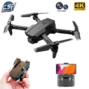 2020 nowy XT6 Mini 4K Drone HD podwójna kamera WiFi Fpv ciśnienie powietrza wysokość trzymać składany Quadcopter helikopter rc zabawka dziecięca prezent tanie i dobre opinie CEVENNESFE CN (pochodzenie) Z tworzywa sztucznego 100 meters 21 5*11*7 CM Mode2 Silnik szczotki 3 7v 4 kanały Oryginalne pudełko