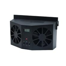 Автомобильный вентилятор на солнечной энергии ed, вентилятор для вентиляции, двойной режим питания, высокомощный автомобильный охлаждающий вентилятор для автомобиля, свежий