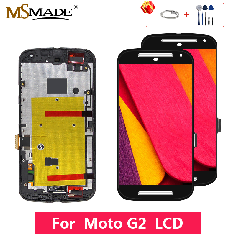 AAA Quality For <font><b>Motorola</b></font> MOTO G2 XT1063 XT1064 <font><b>XT1068</b></font> XT1069 LCD Touch Screen Digitizer <font><b>Display</b></font> Replacement Assembly Parts image