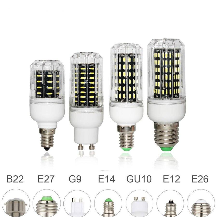 E26 e27 e12 e14 g9 gu10 led bulbo de milho 4014 smd luz 10 w 20 25 30 iluminação 36leds 72leds 96leds 138leds ampola led spotlight