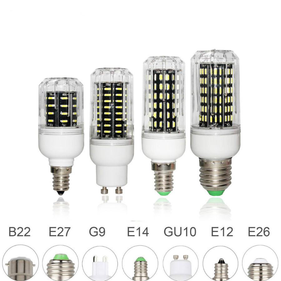 E26 <font><b>E27</b></font> E12 E14 G9 GU10 <font><b>LED</b></font> Corn Bulb 4014 SMD Light 10W 20W 25W <font><b>30W</b></font> Lighting 36leds 72leds 96leds 138leds Ampoule <font><b>Led</b></font> Spotlight image
