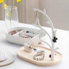 Soporte de almacenamiento de joyería anillo creativo ornamento pulsera collar soporte nórdico hogar soporte para presentación de joyería arete almacenamiento árbol