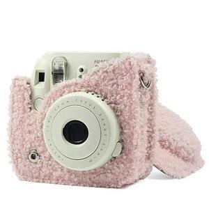 Image 3 - Fujifilm Instax Mini 9 Mini 8 kamera çantası anında Film kamera aksesuarları peluş kapak omuz askısı çantası koruyucu kılıf kılıfı