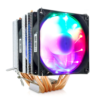 RGB cpu Radiator 6 pipes Cooling Fan Cooler for Intel AMD CPU LGA 1155 1156 1150 1366 2011 X79 2011-3 X99 Socket Motherboard universal desktop computer pc blue led aluminum heatsink cpu cooler cpu fan cooling for lga 775 1150 1155 1156 amd or 1366 2011