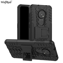 For Nokia 7.2 Case Phone Bumper TPU & PC Holder Armor Protective Hard Back