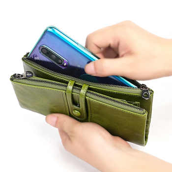 Ladies Wallet Leather Wallet Multifunctional Long Coin Purse