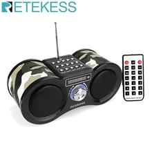 Retekess V113 FM Radio Stereo Digital Radio Receiver Speaker MP3 Music Player USB Disk TF Card