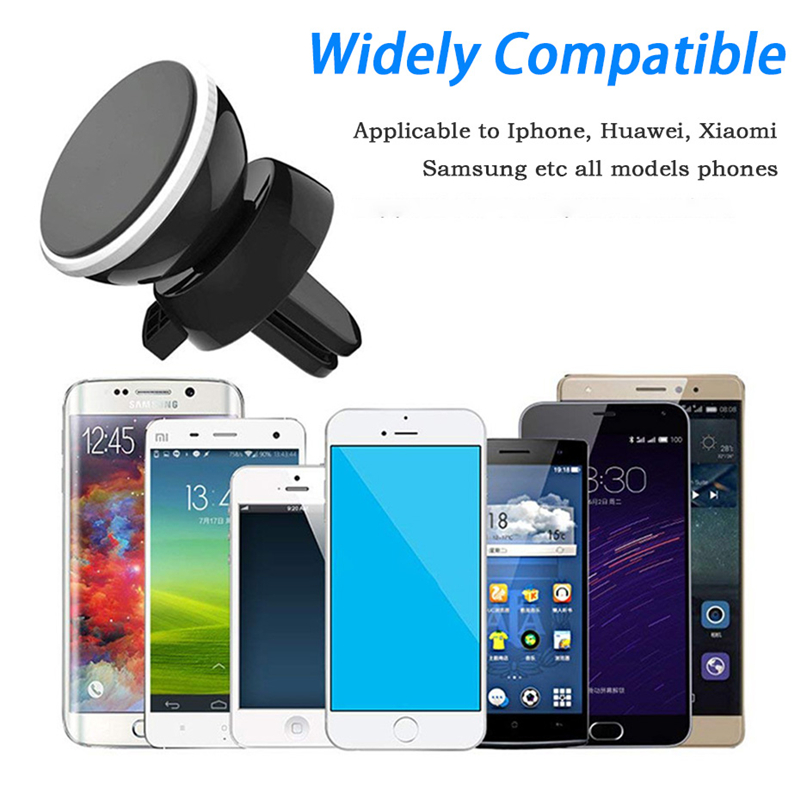 Universal 360 Degree Car Phone Holder Magnetic Air Vent Mount Mobile Smartphone Stand Magnet Support Cell Cellphone In Car GPS