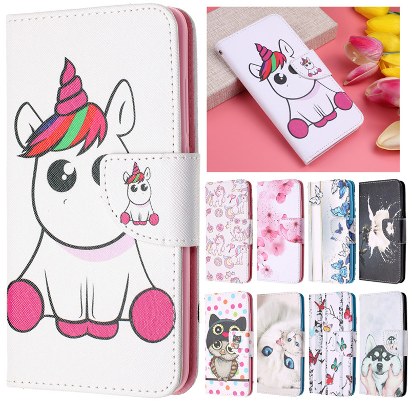 A7 2018 Leather Case on sFor Samsung Galaxy A7 2018 Cover for Samsung A 7 A7 2018 A750F Case Unicorn Flip Wallet Phone Cases