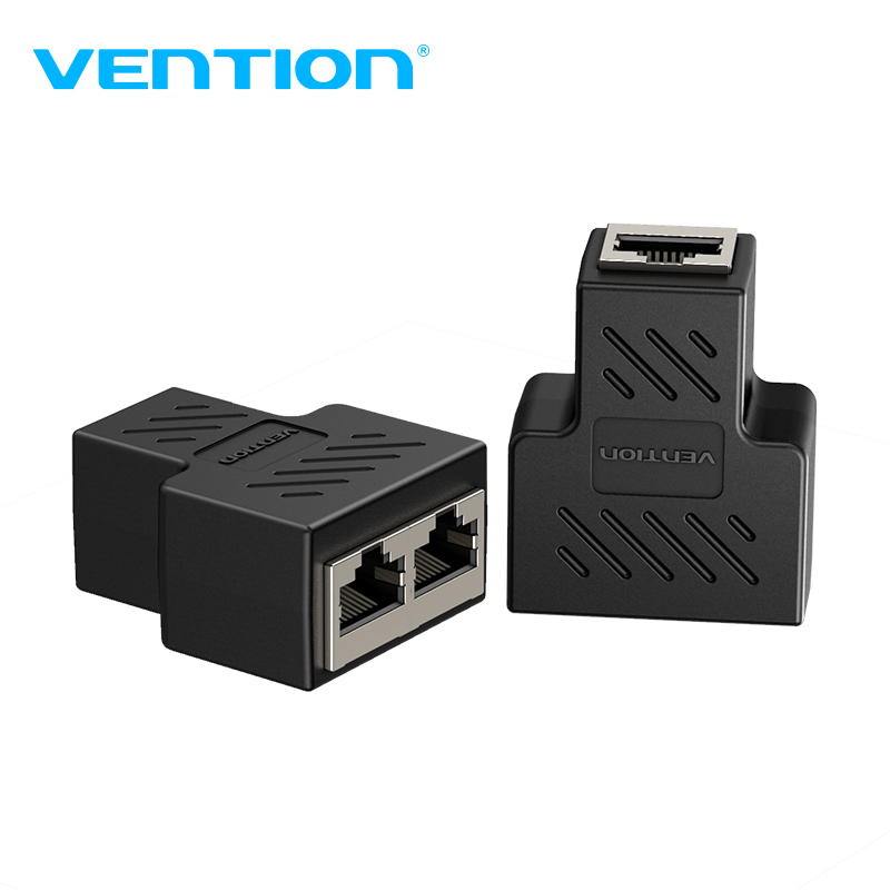 Vention RJ45 Splitter Connector Adapter 1 To 2 Ways Ethernet Splitter Coupler Contact Modular Plug Connect Laptop Ethernet Cable