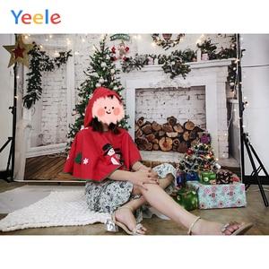 Image 2 - Yeele Brick Wall Christmas Holidays Tree Firewood Baby Photography Background Customized Photographic Backdrops for Photo Studio