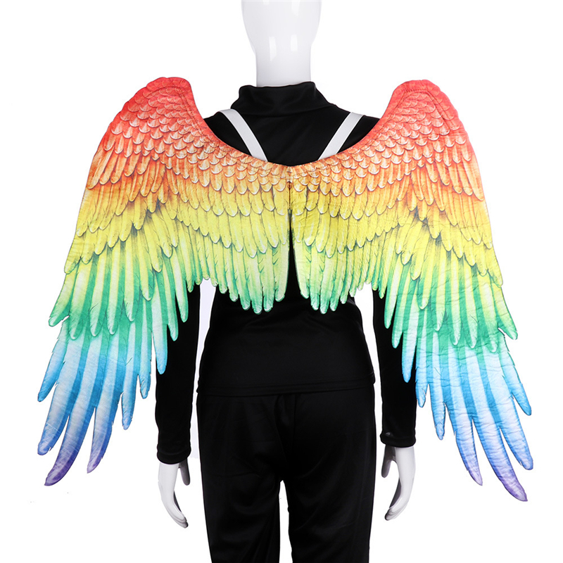 New cosplay wings Angel Rainbow Wing costume chothing LGBT Gay Rainbow anime Wings for Adult Carnival halloween party costume image